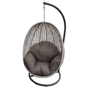 hanging egg chair peter egg light grey wicker