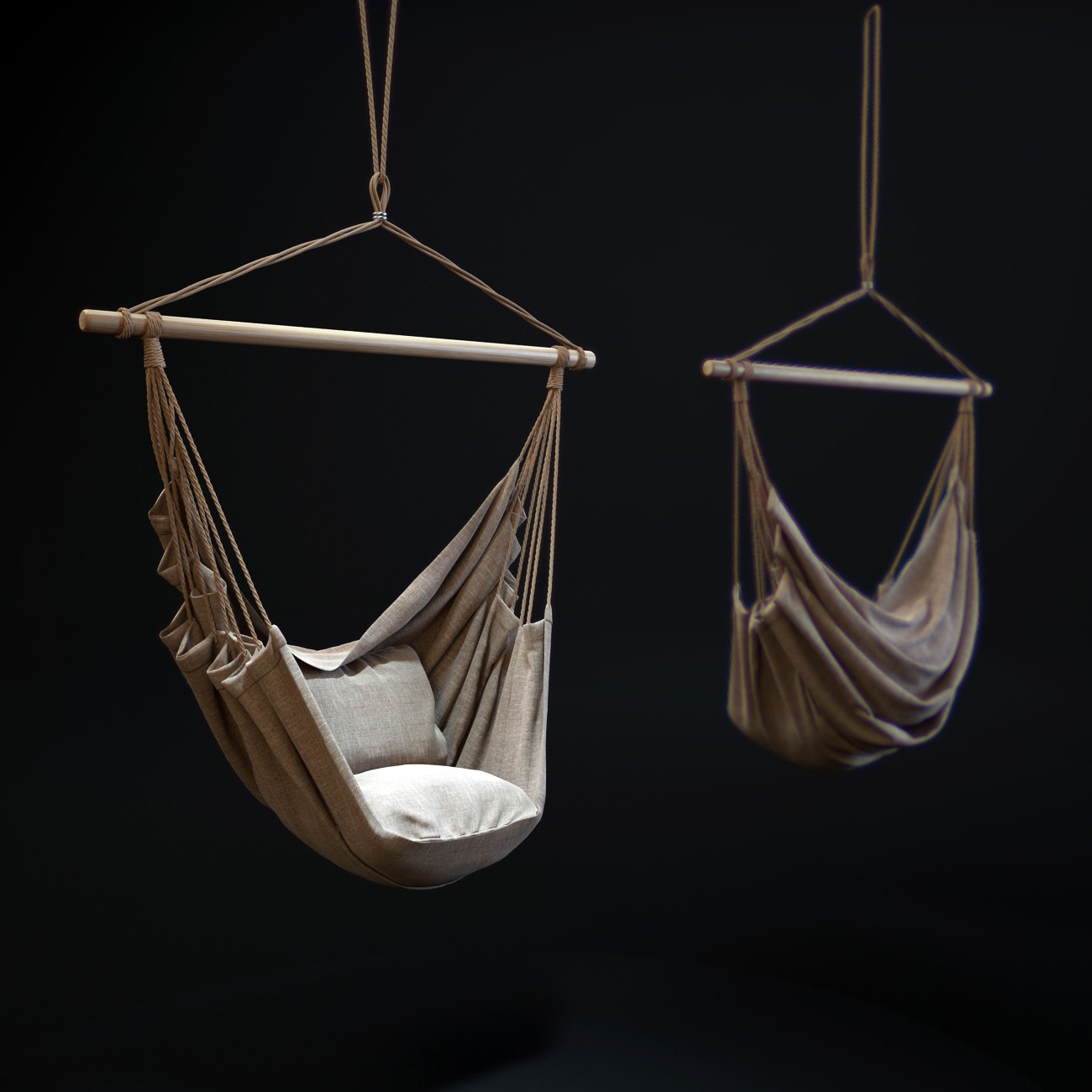 hanging rope chair