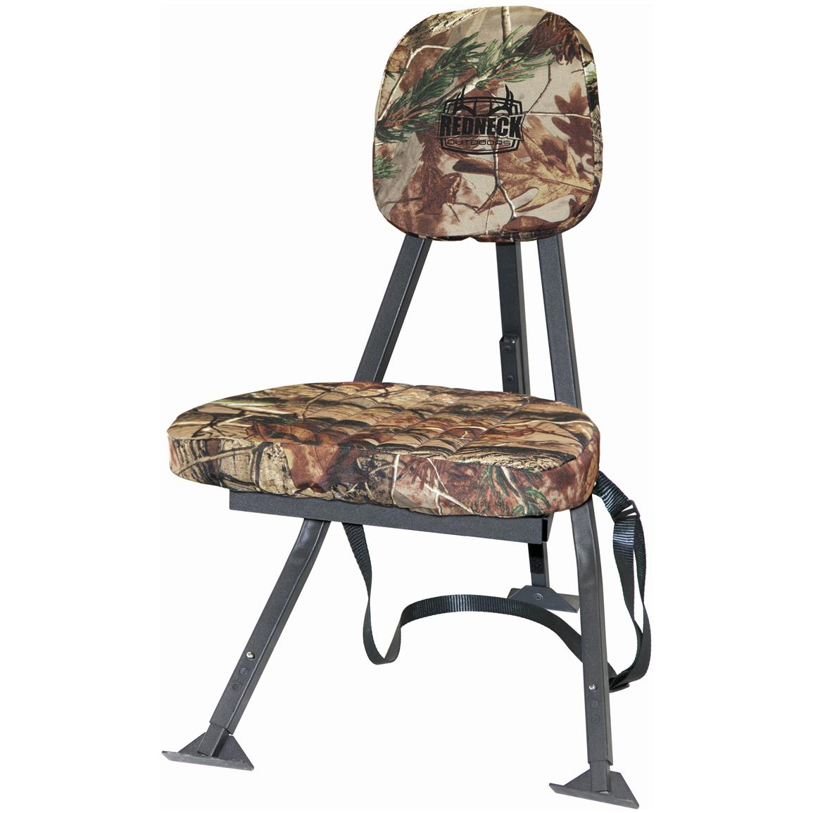 high back camo chair