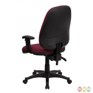 high back computer chair high back burgundy fabric ergonomic computer chair with height adjustable arms