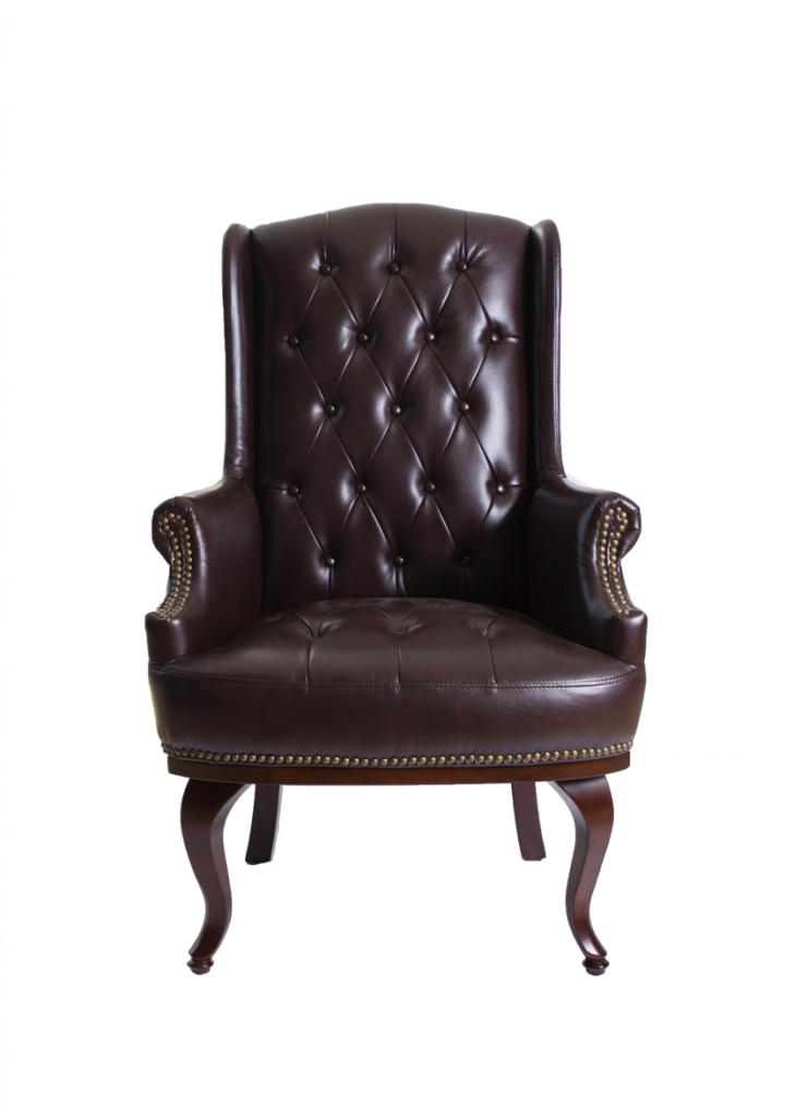 high back leather chair high back leather armchair in chocolate brown