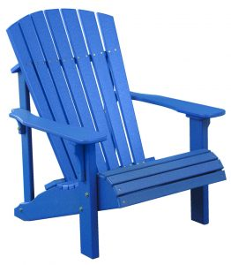 high back outdoor chair luxcraft poly deluxe adirondack chair