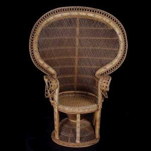 high backed wicker chair l