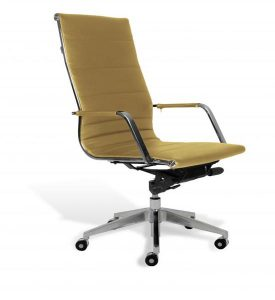 high desk chair hr modern high back desk chair mustard