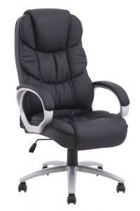 highback desk chair black pu leather high back office chair executive task ergonomic computer desk