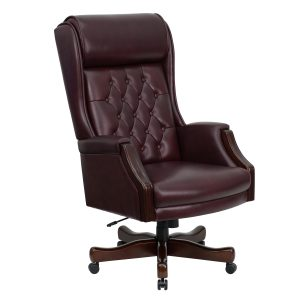 highback desk chair kc ctg gg high back traditional tufted bur