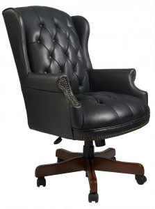 highback office chair boss wingback traditional office chair b raw