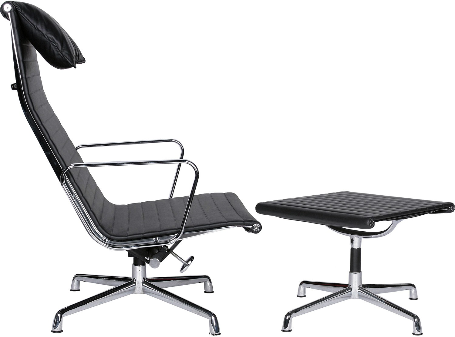 highback office chair eames office chair ea ea aluminum group high back chair ottoman replica