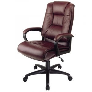 highback office chair high back executive burgundy leather office desk chair ebay
