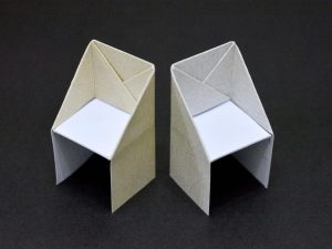 how to make a chair make an origami chair step