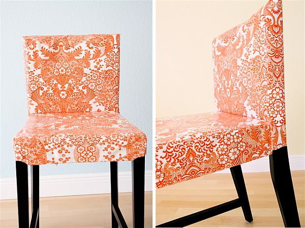 how to make chair covers orange chair cover