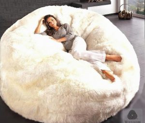 huge bean bag chair sheepskin bean bag chair jumbo x
