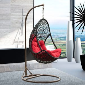 indoor hanging chair country style multicolor synthetic rattan garden swing hanging chair leisure hanging egg chair for indoor and