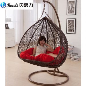 indoor hanging chair swing rocking chair indoor outdoor balcony casual rattan hanging chair double hanging basket
