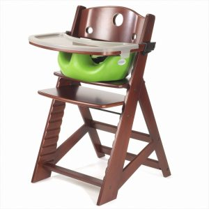 infant high chair keekaroo height right high chair tray infant insert mahogany lime