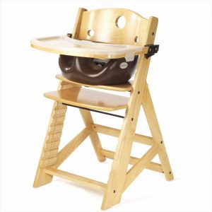 infant high chair keekaroo height right high chair tray infant insert natural chocolate