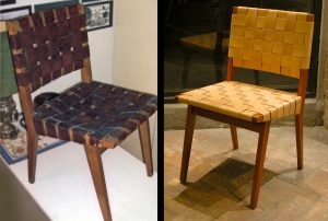 jens risom chair jens risom side chair in natural leather and wood before and after