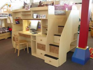 kid sleeper chair how to build a loft bed with desk underneath with brown carpet