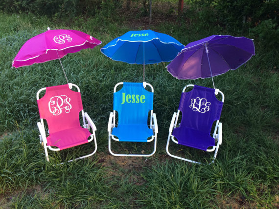 kids beach chair with umbrella