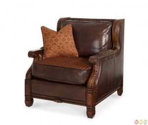 kids club chair michael amini windsor court wood trim leather and fabric club chair by aico