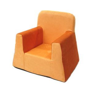 kids lounge chair little reader orange