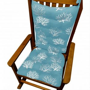kids papason chair rocking chair cushions set coastal coral aqua rocker cushion ocean blue winter season pads tall back sack soft lace large adult size furniture models x