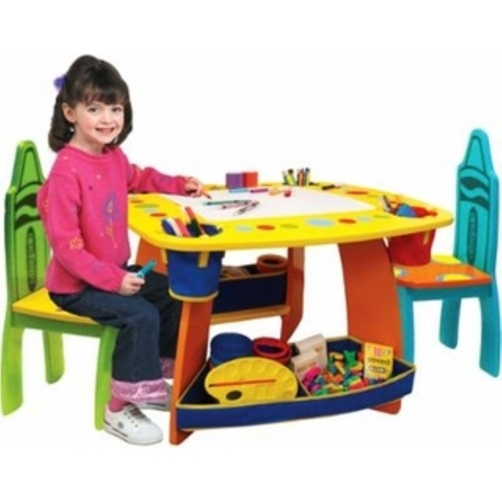 kids play table and chair hg grown up crayola wooden table chair set