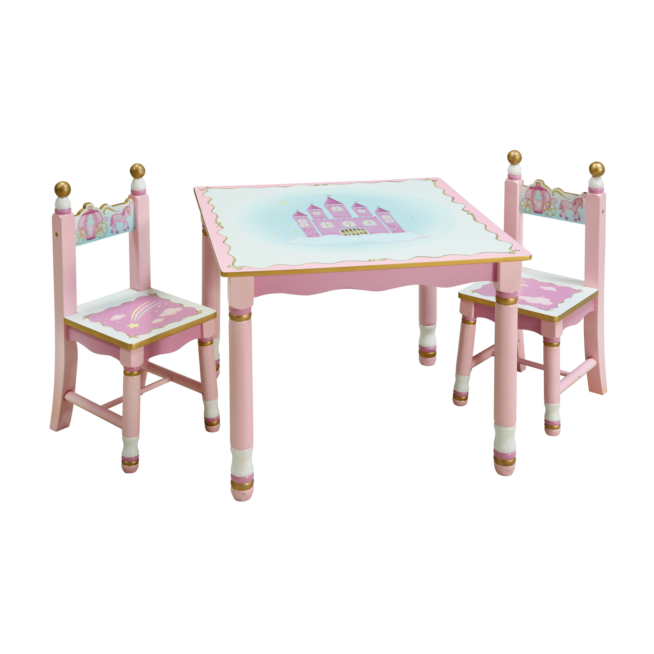 kids table and chair set guidecraft princess kids piece table and chair set g