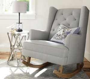 kids upholstered rocking chair media