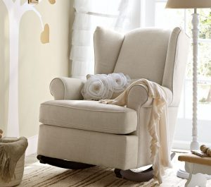 kids upholstered rocking chair pottery barn kids rocking chair ottoman rocker wingback models upholstered product light brown colored smooth textured pads large size wide back sack item