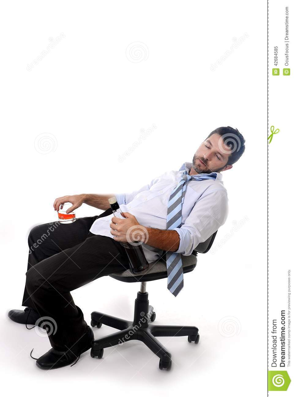 leaning back in chair