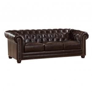 leather chesterfield chair amax kensington top grain leather chesterfield sofa and two chair set