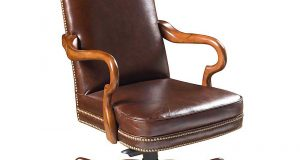 leather desk chair baxter brown leather office chairs with wooden arms