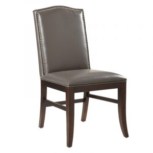 leather dining chair maison dining chair brown leg greydde