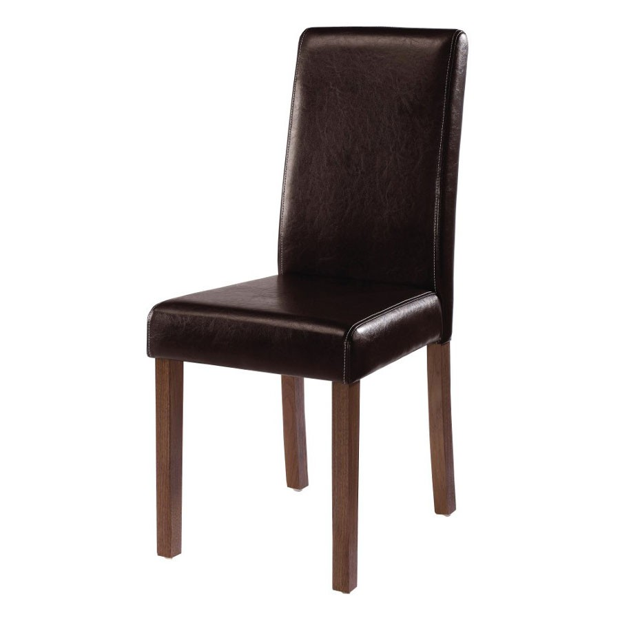 leather dining chair lpd brompton brown chair