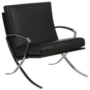 leather lounge chair italmodern blk