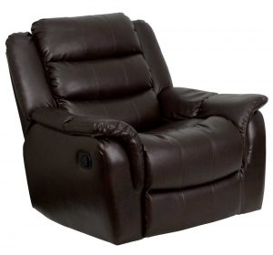 leather reclining chair flash furnitureplush brown leather rocker recliner chair