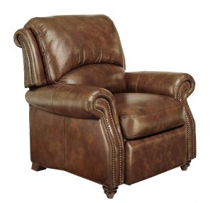 leather reclining chair full view exp