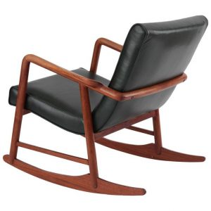 leather rocking chair l