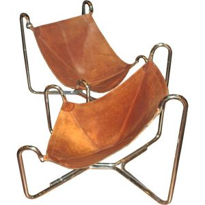 leather sling chair cmpl