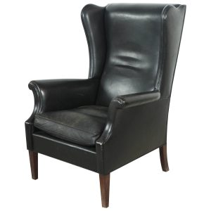 leather wingback chair z
