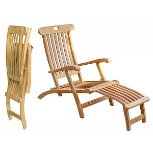 lounge chair outdoor teak steamer totss