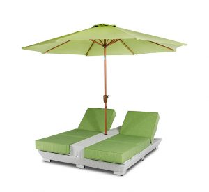 lounge chair with umbrella gemini dsc