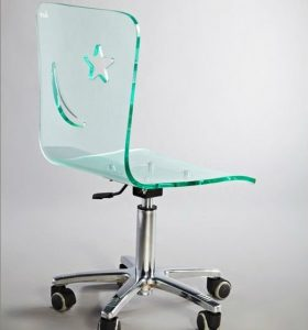 lucite desk chair acrylic office chair plexiglass office chair