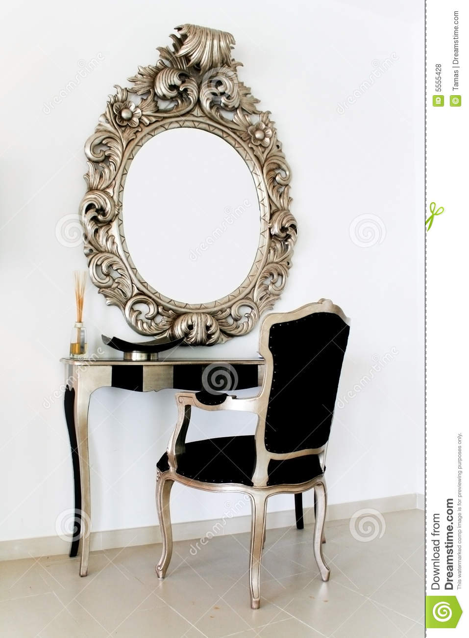 makeup table chair