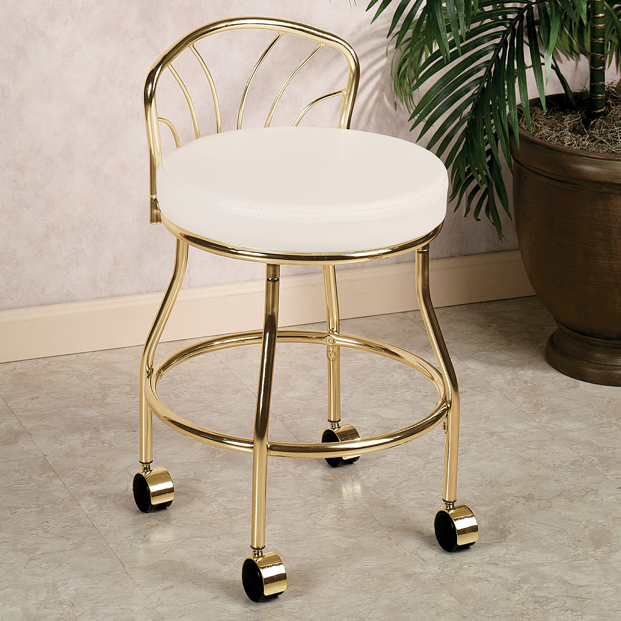 makeup vanity chair gold colored makeup vanity chair idea with white cushion and casters