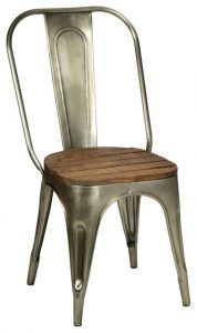 metal and wood dining chair industrial dining chairs