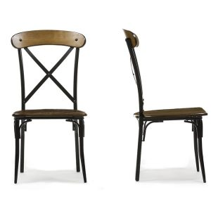 metal and wood dining chair set of broxburn wood and metal dining chair faf f f fbccbb