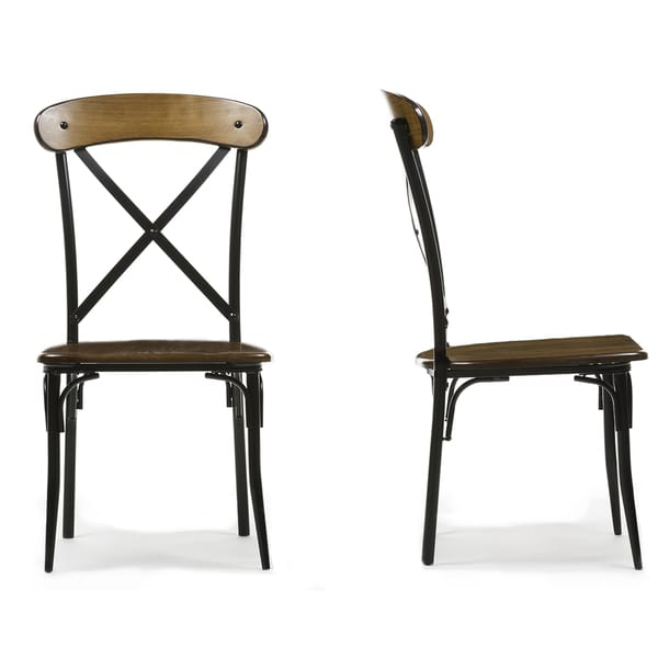 metal and wood dining chair