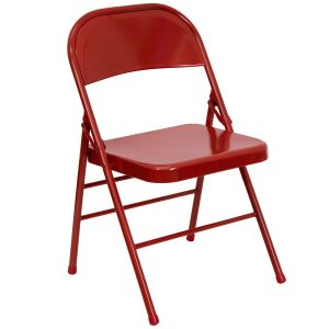 metal folding chair red metal folding chair